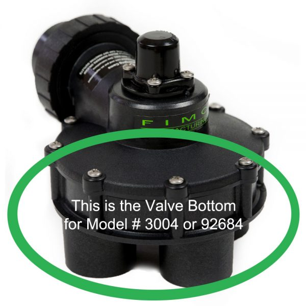 1 1/4 Inch 4 Outlet Valve Bottom