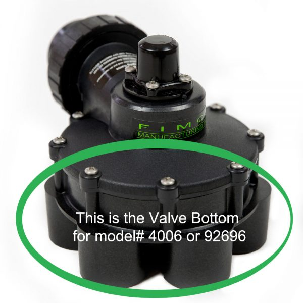 1 1/2 Inch 6 Outlet Valve Bottom