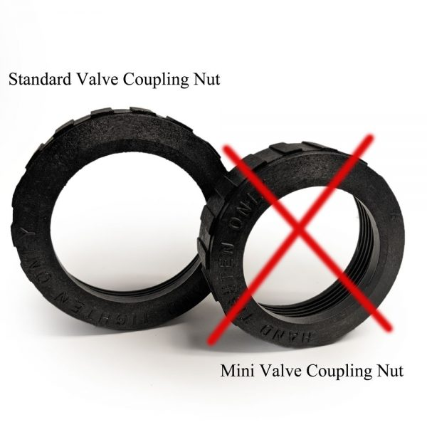 Valve Coupling Nut Comparison