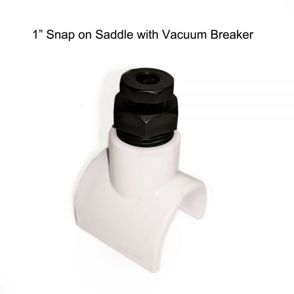 3/4 Inch PVC Saddle with Vacuum Breaker