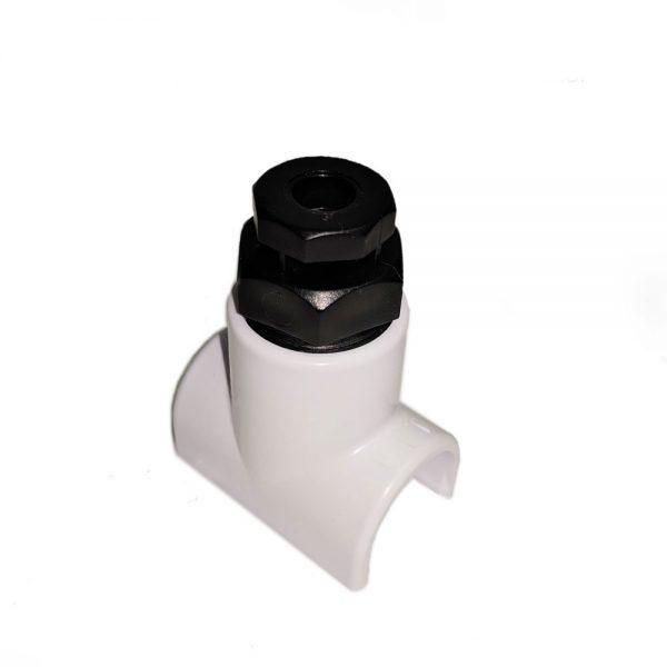 1/2 Inch PVC Saddle with Vacuum Breaker
